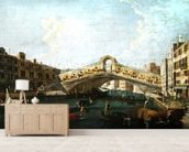 The Rialto in Venice (oil on canvas) wall mural living room preview