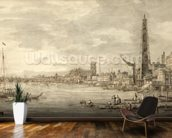 The Thames Looking towards Westminster from near York Water Gate (pen and brown ink with grey wash on paper) wall mural kitchen preview