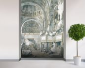 The Choir Singing in St. Marks Basilica, Venice, 1766 (pen, ink and wash on paper) wallpaper mural in-room view