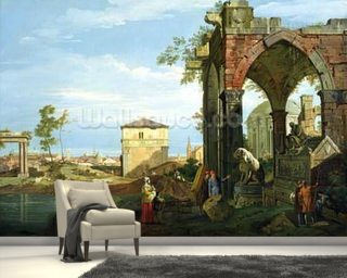 Capriccio with Motifs from Padua 1756 Wall Mural Wallpaper Wall Murals