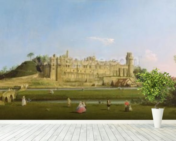 Warwick Castle, c.1748-49 (oil on canvas) wall mural room setting