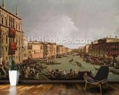 A Regatta on the Grand Canal, c.1735 (oil on canvas) wallpaper mural kitchen preview