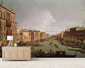 A Regatta on the Grand Canal, c.1735 (oil on canvas) wallpaper mural living room preview