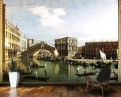 The Rialto Bridge, Venice (oil on canvas) wall mural kitchen preview