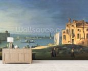 View of Venice (oil on canvas) wallpaper mural living room preview