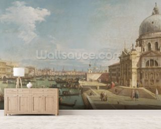 The Entrance to the Grand Canal and the church of Santa Maria della Salute Wallpaper Mural Wallpaper Wall Murals