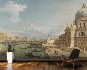 The Entrance to the Grand Canal and the church of Santa Maria della Salute, Venice (oil on canvas) mural wallpaper kitchen preview