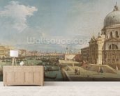 The Entrance to the Grand Canal and the church of Santa Maria della Salute, Venice (oil on canvas) mural wallpaper living room preview