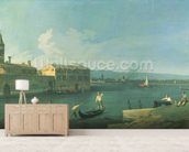 View of San Michele in Isola, Venice (oil on canvas) mural wallpaper living room preview