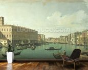 The Grand Canal from the Rialto Bridge (oil on canvas) wall mural kitchen preview