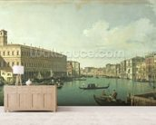 The Grand Canal from the Rialto Bridge (oil on canvas) wall mural living room preview