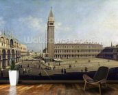 Piazza San Marco, Venice (oil on canvas) wallpaper mural kitchen preview