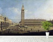 Piazza San Marco, Venice (oil on canvas) wallpaper mural in-room view