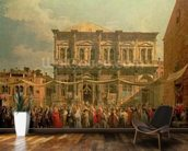 The Doge Visiting the Church and Scuola di San Rocco, c.1735 (oil on canvas) wallpaper mural kitchen preview