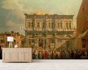 The Doge Visiting the Church and Scuola di San Rocco, c.1735 (oil on canvas) wallpaper mural living room preview