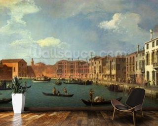 View of the Canal of Santa Chiara, Venice (oil on canvas) mural wallpaper