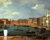 View of the Canal of Santa Chiara, Venice (oil on canvas) mural wallpaper kitchen preview