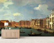 View of the Canal of Santa Chiara, Venice (oil on canvas) mural wallpaper living room preview