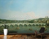 Westminster Bridge from the North with Lambeth Palace in distance wall mural kitchen preview
