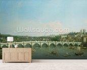 Westminster Bridge from the North with Lambeth Palace in distance wall mural living room preview