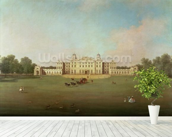 Badminton House, Gloucestershire wallpaper mural room setting