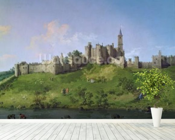 Alnwick Castle mural wallpaper room setting