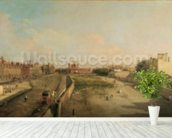 Whitehall (oil on canvas) wall mural in-room view