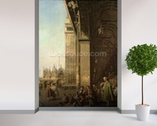 Venice: Piazza di San Marco and the Colonnade of the Procuratie Nuove, c.1756 (oil on canvas) wallpaper mural