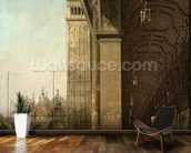 Venice: Piazza di San Marco and the Colonnade of the Procuratie Nuove, c.1756 (oil on canvas) wallpaper mural kitchen preview