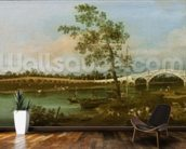 Old Waltons Bridge, 1755 (oil on canvas) wallpaper mural kitchen preview