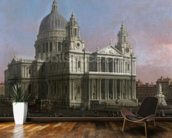 St. Pauls Cathedral, 1754 (oil on canvas) mural wallpaper kitchen preview
