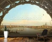 London seen through an arch of Westminster Bridge, 1746-7 (oil on canvas) wallpaper mural kitchen preview