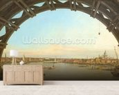 London seen through an arch of Westminster Bridge, 1746-7 (oil on canvas) wallpaper mural living room preview