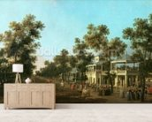 Vauxhall Gardens: the Grand Walk, c.1751 mural wallpaper living room preview