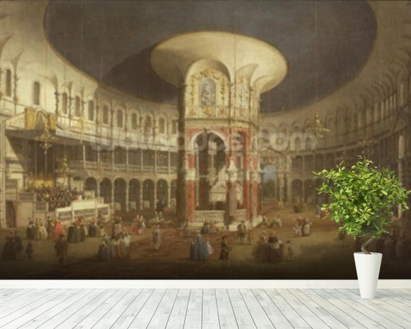 Ranelagh Gardens, the Interior of the Rotunda, c.1751 wall mural room setting