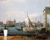 The Punta della Dogana, 1730 wallpaper mural kitchen preview