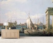 The Punta della Dogana, 1730 wallpaper mural living room preview