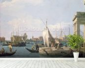 The Punta della Dogana, 1730 wallpaper mural in-room view
