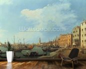 The Riva Degli Schiavoni, 1724-30 mural wallpaper kitchen preview