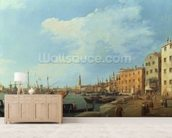 The Riva Degli Schiavoni, 1724-30 mural wallpaper living room preview