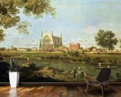 Eton College, c.1754 (oil on canvas) wallpaper mural kitchen preview