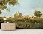Eton College, c.1754 (oil on canvas) wallpaper mural living room preview