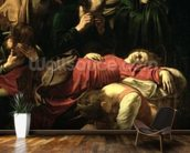 The Death of the Virgin, 1605-06 (oil on canvas) (detail of 3678) mural wallpaper kitchen preview