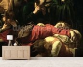 The Death of the Virgin, 1605-06 (oil on canvas) (detail of 3678) mural wallpaper living room preview