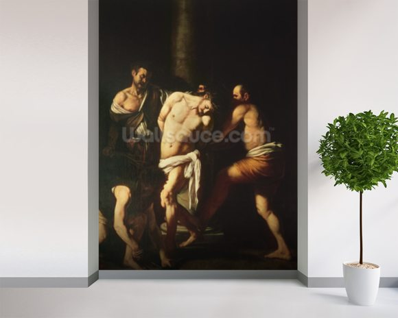 Flagellation, 1607 (oil on canvas) wall mural room setting