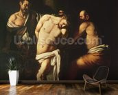 Flagellation, 1607 (oil on canvas) wall mural kitchen preview