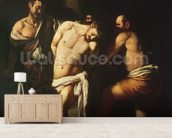 Flagellation, 1607 (oil on canvas) wall mural living room preview