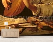 The Lute Player, c.1595 (oil on canvas) (detail of 37514) wall mural living room preview