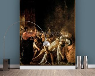 Resurrection of Lazarus (oil on canvas) (also see 232098,94,95) wallpaper mural