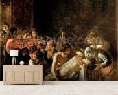 Resurrection of Lazarus (oil on canvas) (also see 232098,94,95) wallpaper mural living room preview